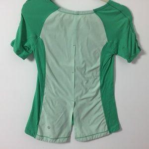 Lululemon Medium Green Back in action T shirt